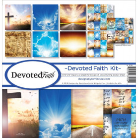 Set de papier 30x30 Devoted Faith 8f - Reminisce Kit
