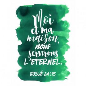 Tableau Aquarelle – Josué 24.15 – 20x30 cm