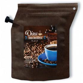 sachet de café moulu Dieu vous fortifiera - 79609