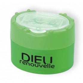 Taille-crayon Dieu renouvelle vert fluo - 715643 - Uljo