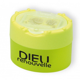 Taille-crayon Dieu renouvelle jaune fluo - 715649 - Uljo