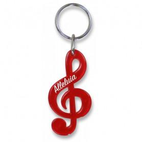 Porte-clés Clé de sol Alléluia rouge – 729841 - Uljo