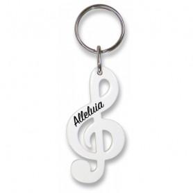Porte-clés Clé de sol Alléluia blanc – 7298411 - Uljo