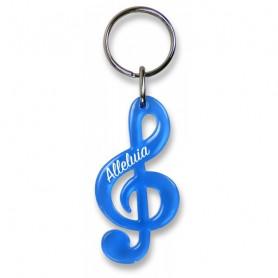 Porte-clés Clé de sol Alléluia bleu – 729842 - Uljo