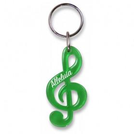 Porte-clés Clé de sol Alléluia vert – 729843 - Uljo