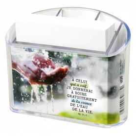 Distributeur bloc-note A celui qui à soif – Ap 21.6 - 74221
