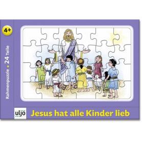 Mini-puzzle Jésus aime tous les enfants 24 pièces - 71194