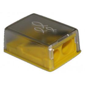 Taille crayon 2 trous ichthus jaune 1pc - 71464-9 - Uljo