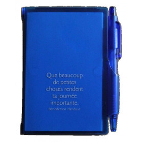Bloc-notes stylo Bleu Que beaucoup de petites choses 7x10,5cm - 72794-10 - Uljo