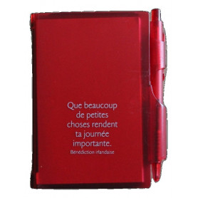 Bloc-notes stylo Rouge Que beaucoup de petites choses 7x10,5cm - 72794-1 - Uljo