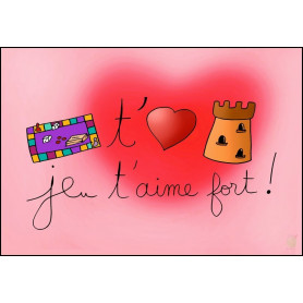 Carte simple Je t'aime fort