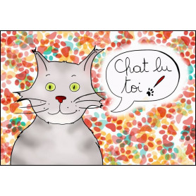 Carte simple Chat lu toi !