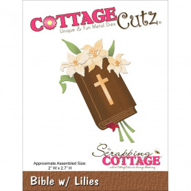 Die Bible with Lilies - CottageCutz - Scrapping Cottage Die