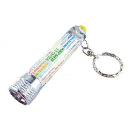 Porte-clés lampe Viens et suis-moi - Matthieu 4.19 - 8603