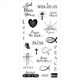 Tampons Good News 20 pc - Inkadinkado Clear Stamps