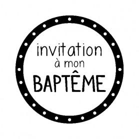 Kit Mini tampon et bloc Invitation à mon baptême - Artemio
