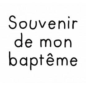 Tampon bois Souvenir de mon baptême - Artémio
