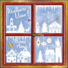 Carte double Fenêtre hivernale - feuillet séparé Ep 3.17