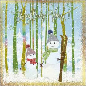 Carte double Bonhomme de neige - feuillet séparé Ep.3.17
