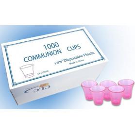 Sainte Cène 1000 gobelets plastique rouge Dimension 15 x 16'' - CLC