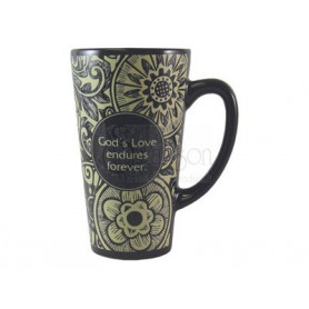 Mug latte God's love black