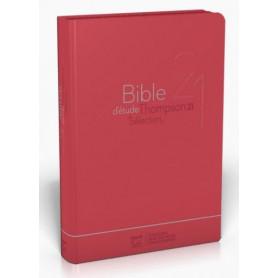 Bible Thompson Segond 21 Sélection souple rouge fermeture éclair