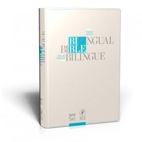 Bible bilingue français/anglais - S21/NLT - Vivella avec fermeture éclair