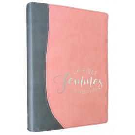 Bible femmes à son écoute - souple silver/pamplemousse