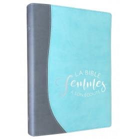 Bible femmes à son écoute - souple silver/aqua