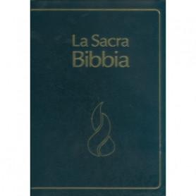 Bible Italien Nuova Riveduta Etude à parallèles - Fibrocuir noir avec onglets