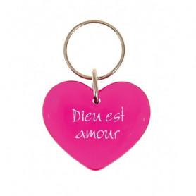 Porte-clés Coeur Dieu est amour - 73868
