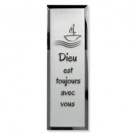 Tableau Miroir Dieu est toujours avec vous - 5x14 cm - 76135