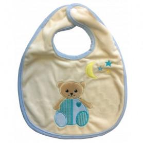 Bavoir ours avec étiquette Tu es né dans les mains de Dieu - 71153