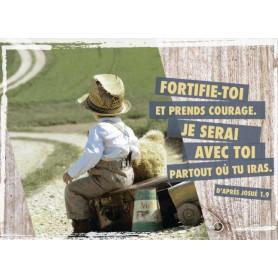Magnet Frigo Fortifie-toi et prends courage - Josué 1.9