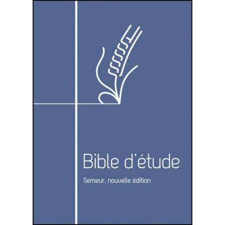 Bible d'étude Semeur Couverture bleue avec fermeture à glissière
