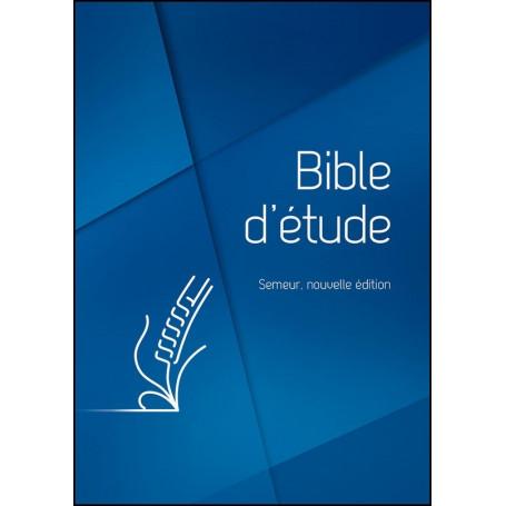 Bible d'étude Semeur Couverture rigide bleue