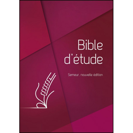 Bible d'étude Semeur Couverture rigide rouge