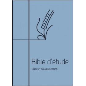 Bible d'étude Semeur Couverture souple bleue