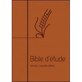 Bible d'étude Semeur Couverture souple marron