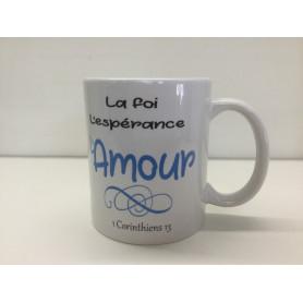 Mug La foi l'espérance l'amour – MU2000021