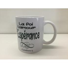 Mug La foi l'amour l'espérance – MU2000022