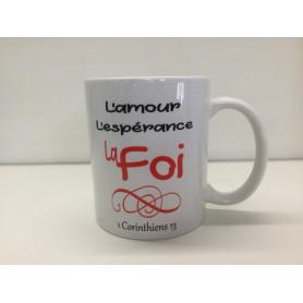Mug L'amour l'espérance la foi – MU2000023