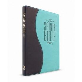 Bible Esaïe 55 Standard souple duo bleu nuit/turquoise
