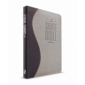 Bible Esaïe 55 Standard souple duo bleu nuit/gris fermeture éclair