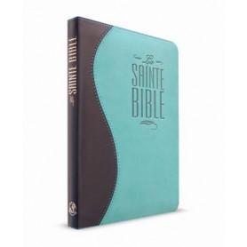 Bible Esaïe 55 Standard souple duo bleu nuit/turquoise fermeture éclair
