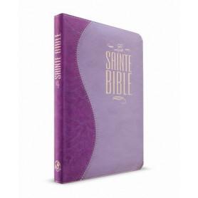 Bible Esaïe 55 Standard souple Duo parme avec fermeture éclair