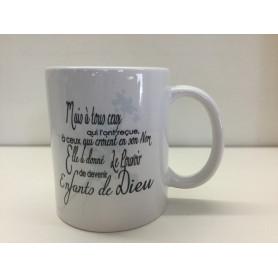 Mug Mais à tous ceux qui l'ont reçue, à ceux qui croient en son nom – MU2000060