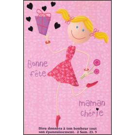 Carte double Bonne fête maman chérie - 2 Sam 23.5