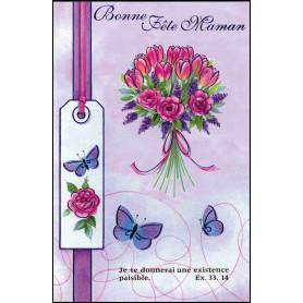 Carte double Bonne fête maman - Fleurs - Ex 33.14