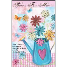 Carte double Bonne fête maman - Arrosoir - Ez 36.36